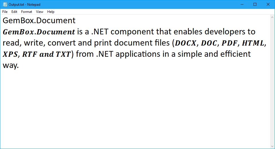 Opening and reading Word document's text and formatting in C# and VB.NET
