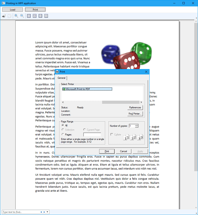 Printing Word document from WPF application