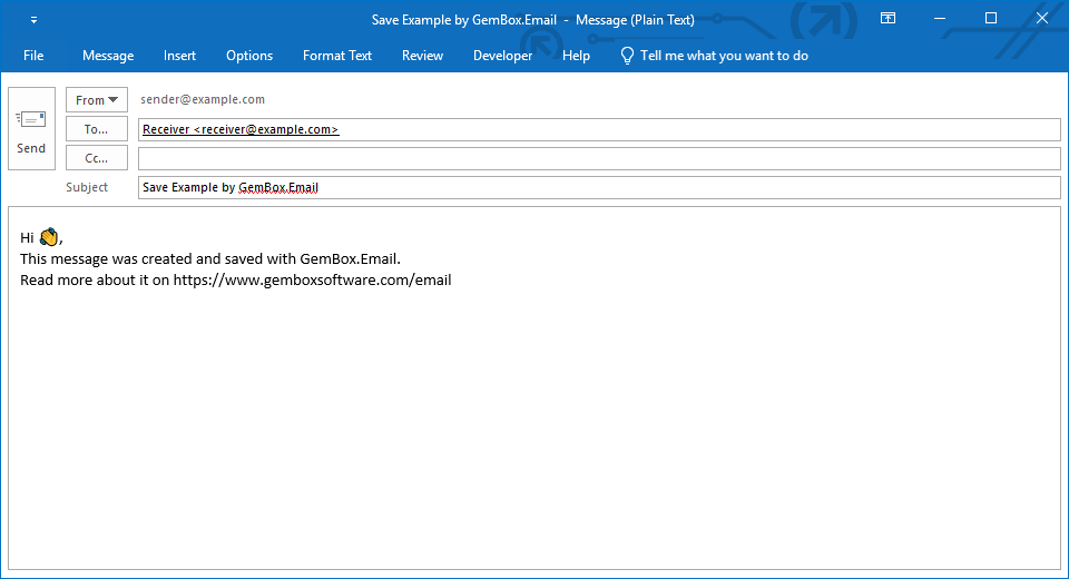 Save email in C# and VB.NET