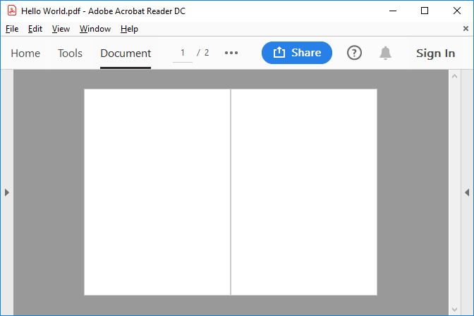 Generated PDF document from Azure Functions
