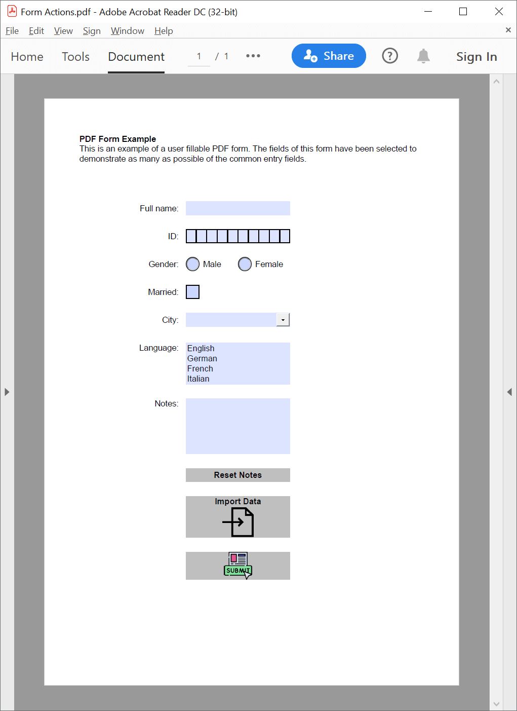 PDF 'submit form' action added with GemBox.Pdf