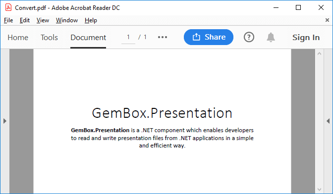 PDF converted from PowerPoint file with GemBox.Presentation
