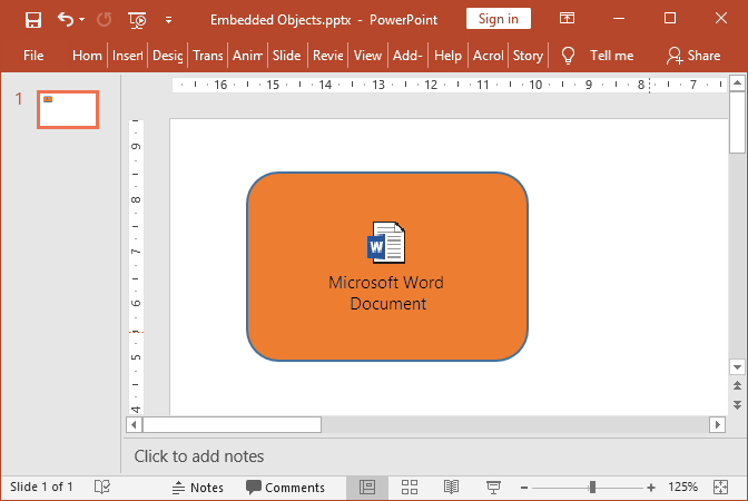 PowerPoint embedded object preserved with GemBox.Presentation