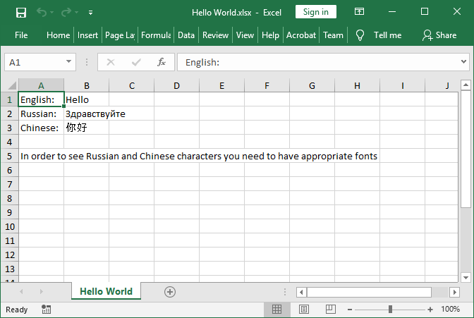 Excel API/Library in Java