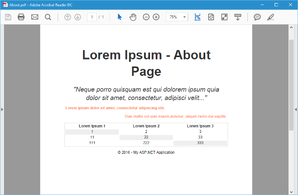 PDF About Page Screenshot